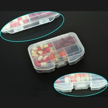 Hot Sale 5-Compartment Portable Sealed Storage Medicine Case Medical Pill Box Holder Travel Emergency First Aid Kits