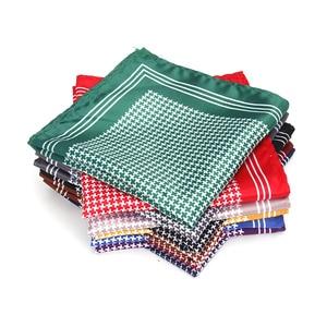 Men's Handkerchief Vintage Thousands Birds Pocket Square Soft Silk Hankies Wedding Party Business Hanky Chest Towel Gift 24*24CM