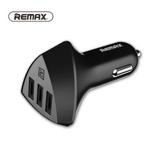 Remax Car-Charger 3 USB Output 2.4A Quick Charging Travel Adapter Cigar Lighter DC 12-24V Car Phone Charger For Mobile Phone(China)