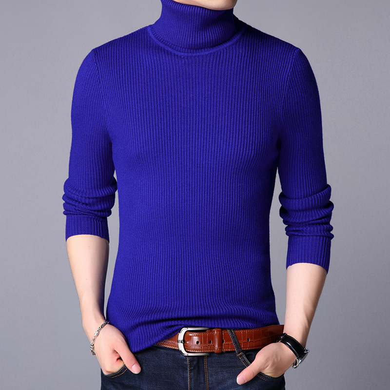 High Quality Men's Winter Turtleneck Warm Sweater Male Casual Pure Color Thick High Collar Cashmere Sweater Pullovers