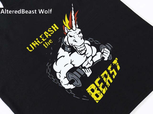 9284eaaa placeholder Men Workout Tank Tops Unicorn Print Men O-Neck Cotton Fitness  Vest Bodybuilding Muscle Tank