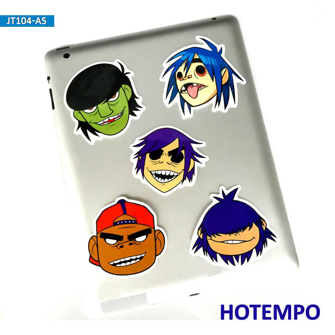 5pcs Hip Hop Blur Music Band Gorillaz Rap Cool Stickers for Mobile Phone Laptop Luggage Guitar Case Skateboard Bike Car Stickers