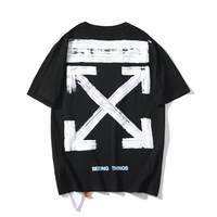 19SS OFF WHITE OW Basic Doodle Sketch Bubble Arrow Men/Women Lovers models Fashion Casual Cotton Round neck Short sleeve T shirt