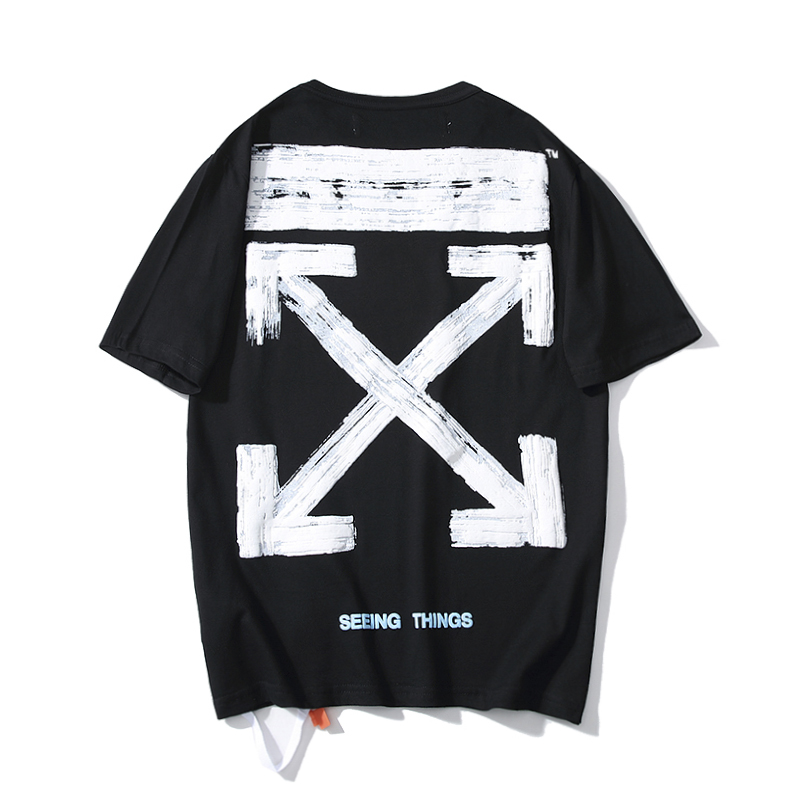 19SS OFF-WHITE OW Basic Doodle Sketch Bubble Arrow Men/Women Lovers models Fashion Casual Cotton Round neck Short sleeve T-shirt