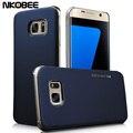 Nkobee caso de cuero de lujo para samsung galaxy s7 & s7 edge + transparente duro de la contraportada para samsung galaxy s7 edge accesorios
