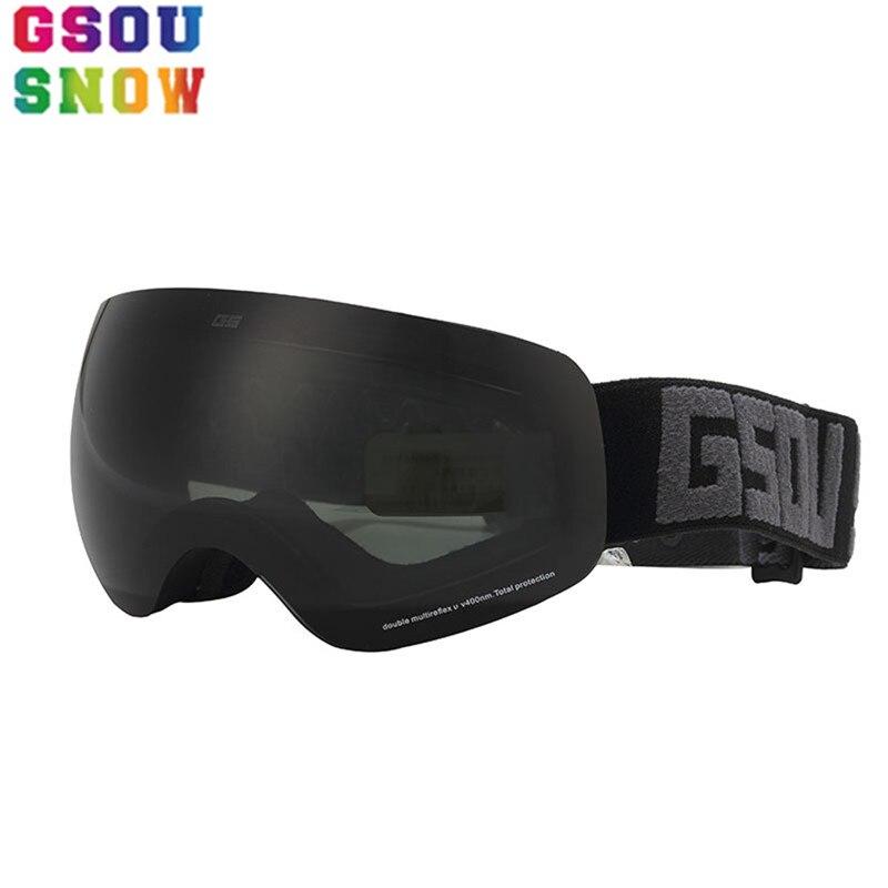Gsou neige hiver enfants lunettes de Ski extérieur multi-couleur lunettes professionnel Snowboard lunettes Protection garçons filles Ski lunettes