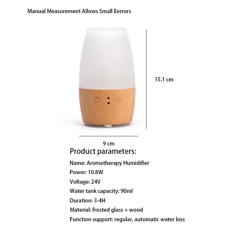 220 V madera romántica automático Aroma aceite esencial lámparas enchufe en Mini luz nocturna humidificador purificador de aire pulverizador regalo hogar decoración - 2