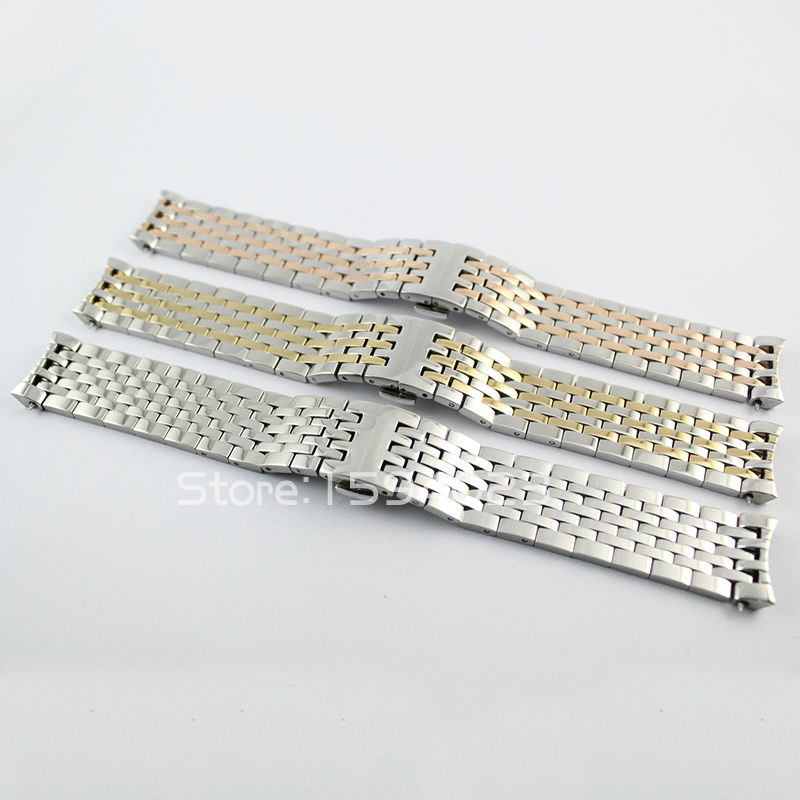 20mm T063617 T063639 Nuevas piezas de reloj Hombre Acero inoxidable sólido T063610 T063637 Correa de pulsera Bandas de reloj para T063