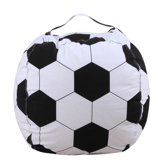 Футбольная бейсбольная сумка для хранения, Детская плюшевая сумка для хранения игрушек, мягкая сумка, тканевый стул - Цвет: Football
