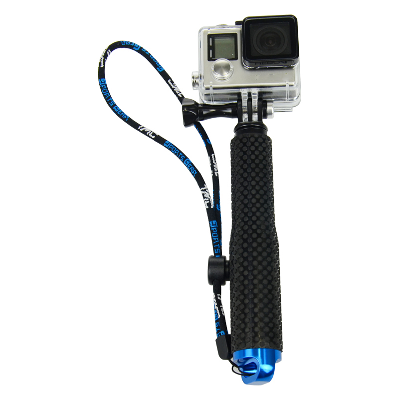 Monopié de mano telescópico de aluminio resistente al agua para cámara de acción GoPro Hero6 5 7 4 3 plus 2 SJ4000 xiaomi yi 4 k