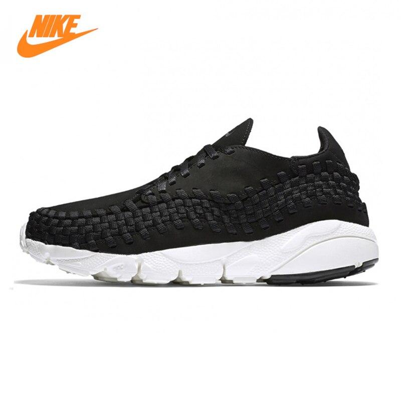 Nike Lab Air Footscape Для мужчин кроссовки, оригинальные спортивные уличные кроссовки, черный, износостойкие дышащий 874892 001