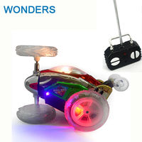 Lustig Mini RC Auto Fernbedienung Spielzeug Stunt Auto Monster Truck Radio Tanzen Drift Modell Rotierenden Rad Fahrzeug Motor