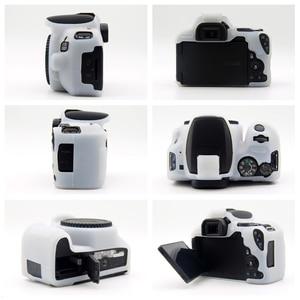 Image 2 - Rubber Silicon Case Soft Body Cover Protector Skin for Canon EOS 200D 250D / 200D II Rebel SL2 SL3 Kiss X9 X10 DSLR Camera