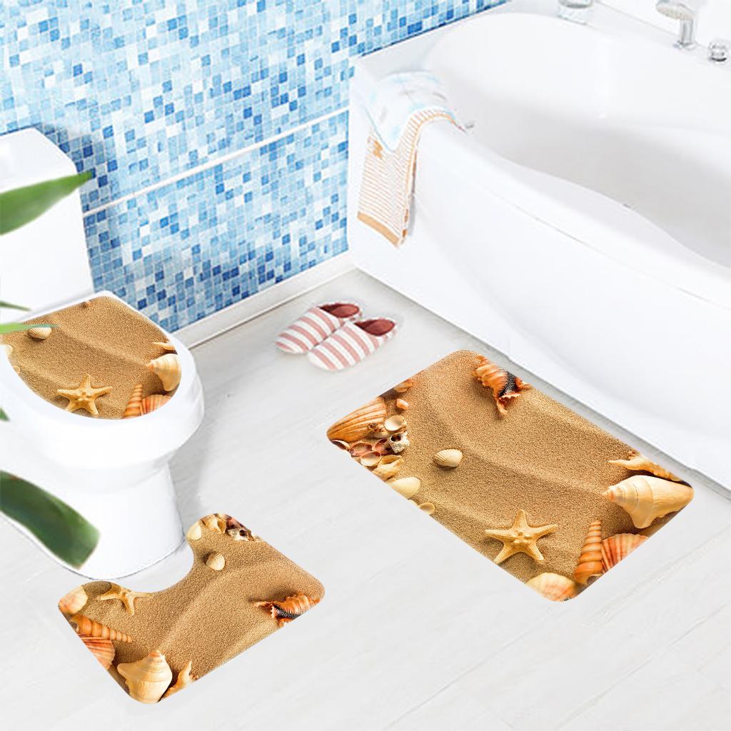 Beach Sea S Pattern Toilet Mat Anti