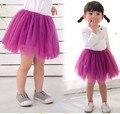Baby Girl Falda Princesa Soild Colores Faldas Del Tutú Del Pettiskirt para Niños de Encaje Mini Falda de Tul 2-7Y Ropa de Niños Regalo de Cumpleaños