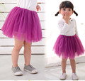 Baby Girl Skirt Princess Soild Colors Tutu Skirts Pettiskirt for Kids Lace Mini Tulle Skirt Children Clothing Birthday Gift 2-7Y