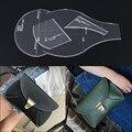 Senhoras saco de ombro único tipo edição desenho padrão modelo de treliça satchel bolsa de couro feitos à mão DIY acrílico feito especialmente
