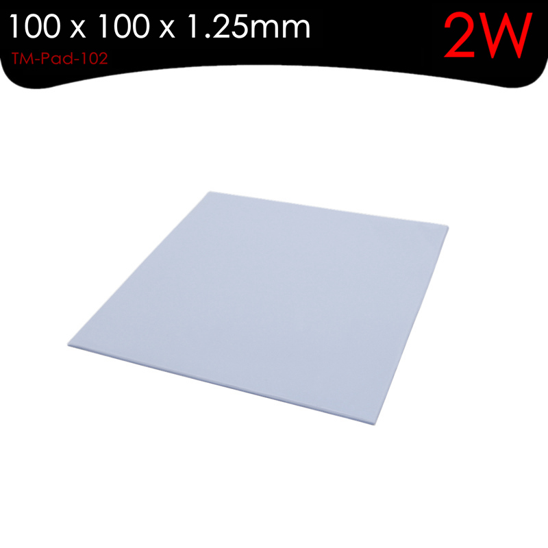 ALSEYE Thermal pad Heatsink Cooling Silicone Pad 2W 1.25 mm thickness 100 x 100mm for <font><b>CPUs</b></font>, Graphic Cards