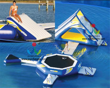 フローティング水公園インフレータブルウォータースライド用販売