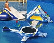 Mengambang Taman Air Tiup Air Slide Untuk Dijual