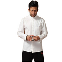 Remise Blanc Tradition Chinoise hommes Kung Fu Veste Solide 100% Coton broder Dragon Manteau Tang Costume S M L XL XXL XXXL