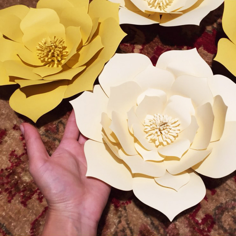 2pcs Paper Flower Template Diy Kit And Flower Center Make Your Own