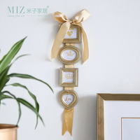 Miz Photo Frame Hanging Picture Frame Set 4 Boxes Photo Frames Wall Mounted Home Decoration Accessories Gold Color Frame
