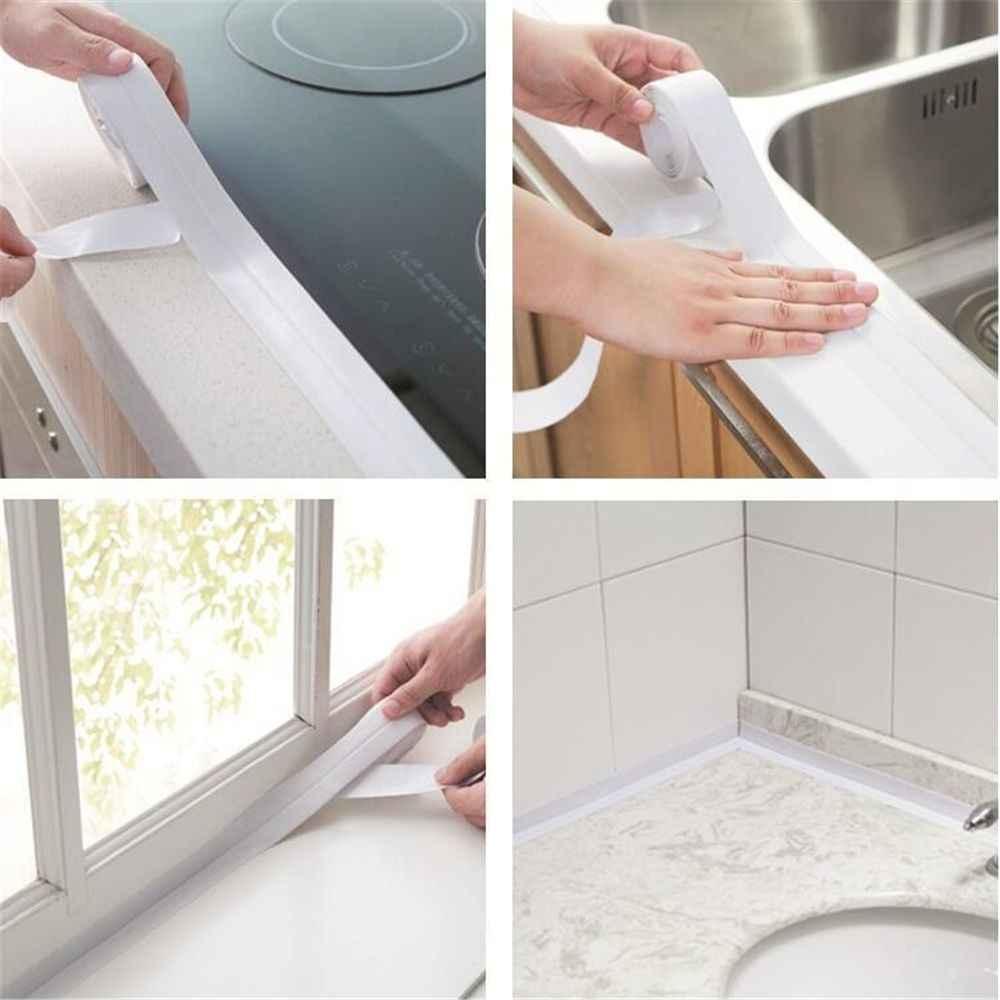 Novo banheiro banheira cozinha adesivos de parede selante fita resistente ao oídio e à prova dwaterproof água pia porta e janela tira fenda