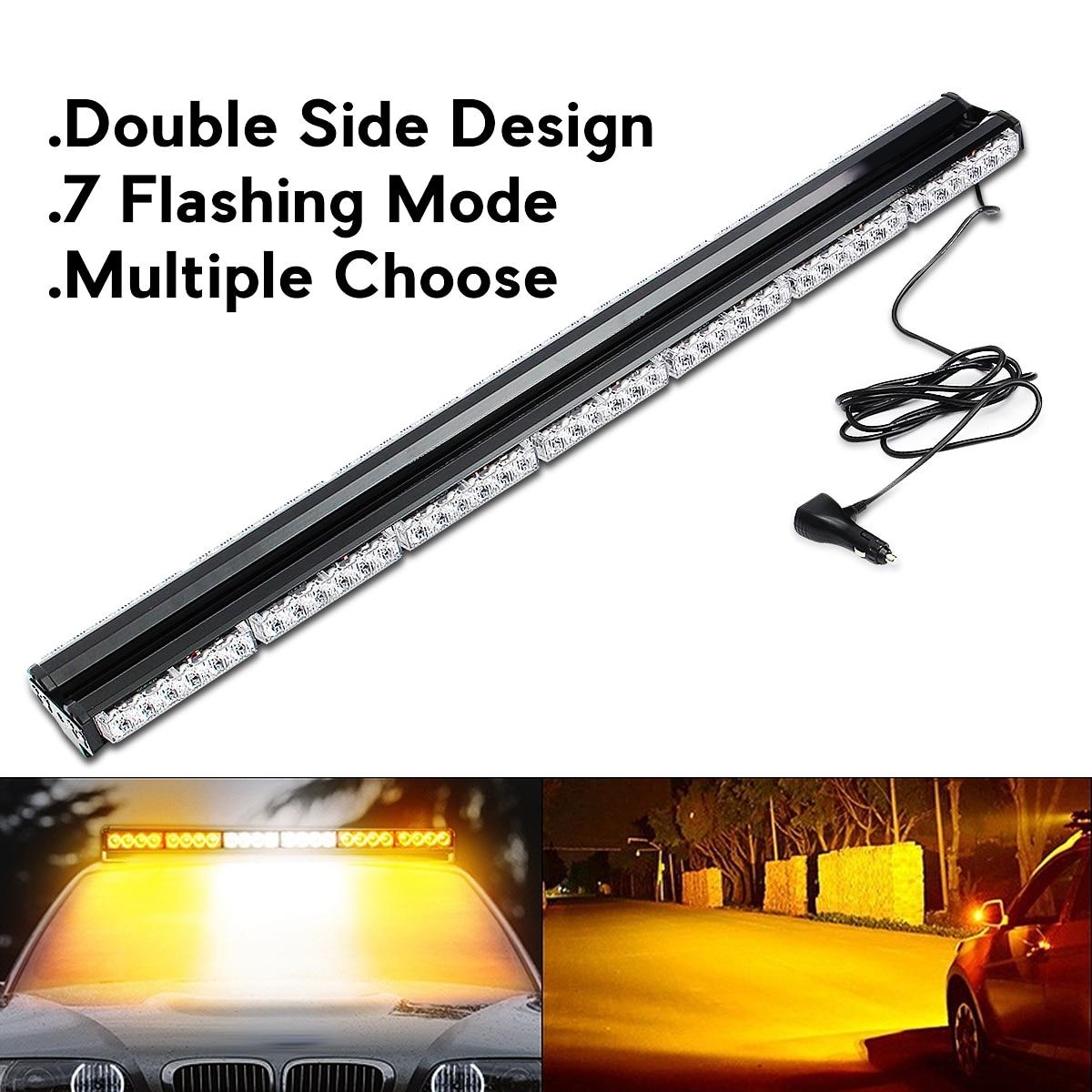 Новый светодио дный 84 светодиодный двухсторонний автомобиль вспышка свет бар Маяк аварийный свет Storbe Янтарный Белый цвет 12 В в В 24 В светоди