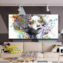 Abstract Butterfly Girl Wall Art Canvas Prints Modern With Flowers Poster On The Cuadros Picture For Living Room Decor