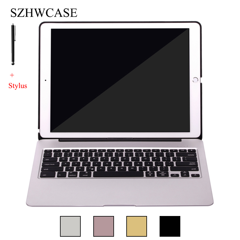 For iPad Pro 12.9 inch (2015) Wireless Bluetooth Keyboard Case For 2015 iPad Pro 12.9 Tablet Aluminum Alloy Stand Cover+StylusFor iPad Pro 12.9 inch (2015) Wireless Bluetooth Keyboard Case For 2015 iPad Pro 12.9 Tablet Aluminum Alloy Stand Cover+Stylus
