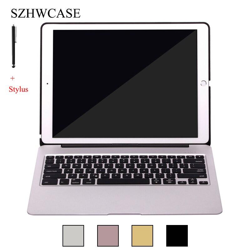 Pour iPad Pro 12.9 pouce (2015) sans fil Bluetooth Clavier Cas Pour 2015 iPad Pro 12.9 ''Tablet En Alliage D'aluminium Couverture de Stand + Stylus