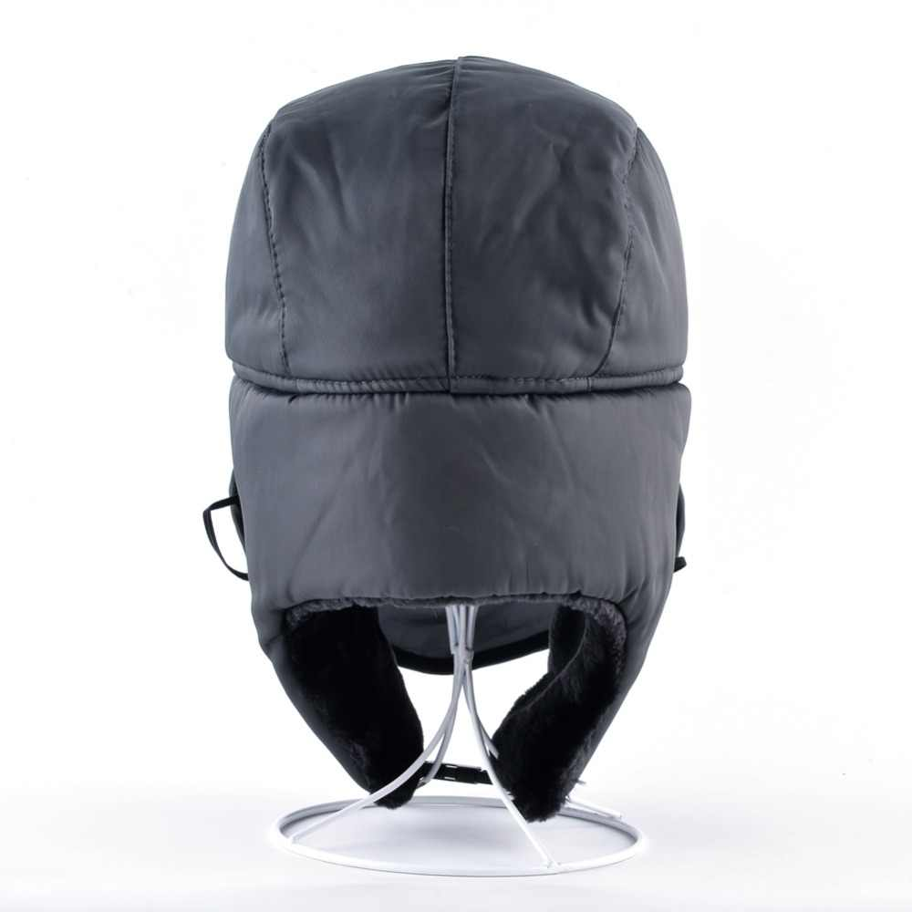 edde0490e 2017 Ushanka russian faux fur cap men winter hats ear flaps snow bomber hat  for women warm troope caps gorro balaclava