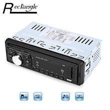 Coche Reproductor de MP3 FM Radio 1 Simple Din Universal de Soporte de TARJETAS SD USB Control Remoto Música LLEVÓ LA Pantalla