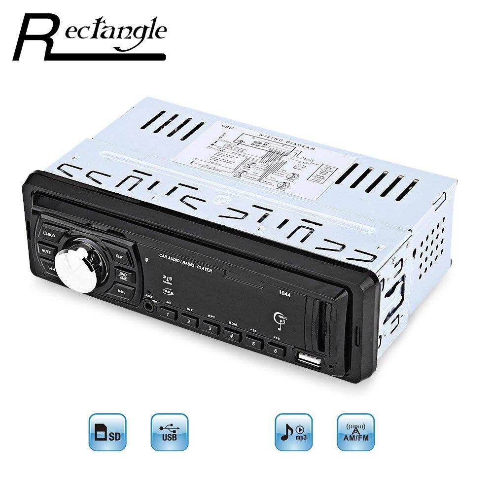 High Quality 1044 Universal Car MP3 Player FM font b Radio b font 1 Single Din
