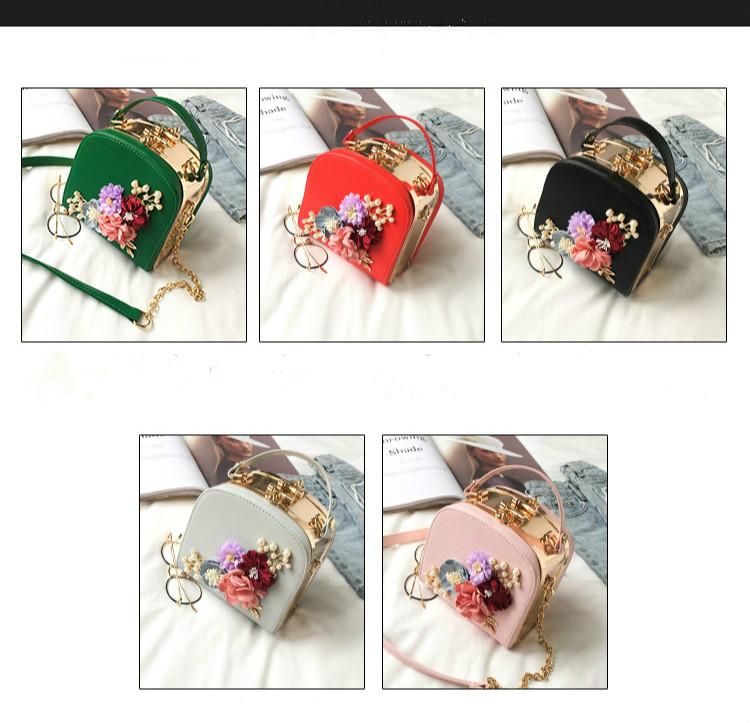 Women bag box Bag National style flowers embossed lock single shoulder bag handbags bags for women 2018 7