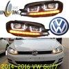 Golf7 Headlight 2014 2016 Fit For LHD And RHD Free Ship Golf7 Fog Light 2ps Se