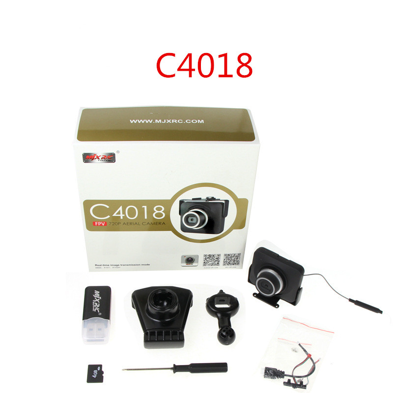 MJX C4018 FPV 720P Real Time Aerial WIFI Camera (C4008 upgrade Edition) For MJX X101 X102 X103 X600 RC Helicopter Camera Parts mjx x600 motors clockwise anti clockwise motor for mjx x600 rc quadcopter drone helicopter airplane toy parts wholesale
