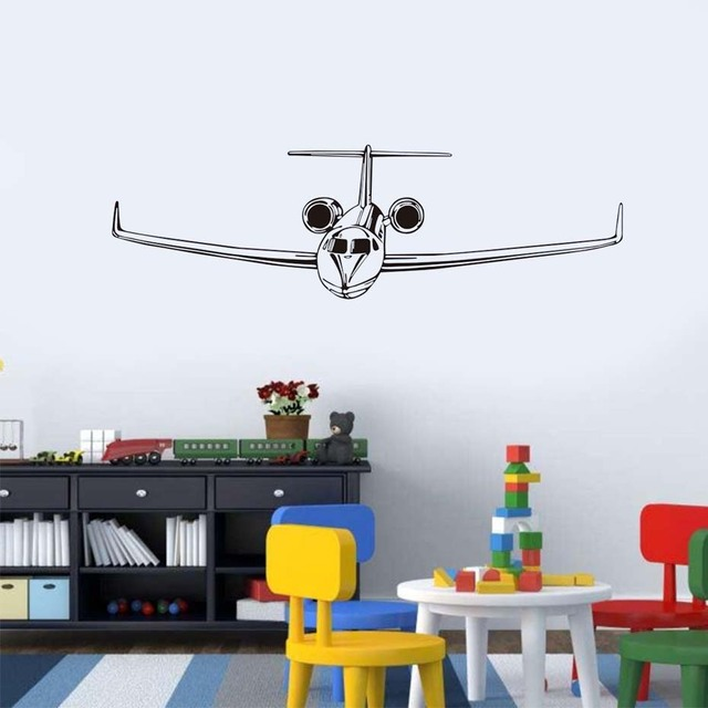3d Airplane Art Poster Wall Sticker Civil Aircraft Interior Decorative Wall  Decals Airplane Wall Art Decal