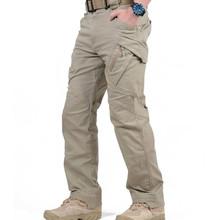 IX9 miasto taktyczne spodnie w stylu cargo mężczyźni bojowe SWAT wojskowe spodnie militarne bawełniane wiele kieszenie Stretch elastyczne mężczyzna spodnie typu casual XXXL tanie tanio Pełnej długości Camping i piesze wycieczki COTTON Poliester spandex Przycisk fly Bayer Pasuje prawda na wymiar weź swój normalny rozmiar