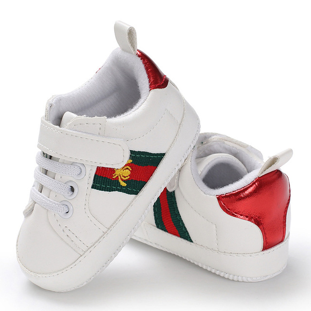 Infant Toddler Soft Sole Baby Casual Sport Shoes Embroidered Flat Bottomed Baby Sneakers for Boys Girls