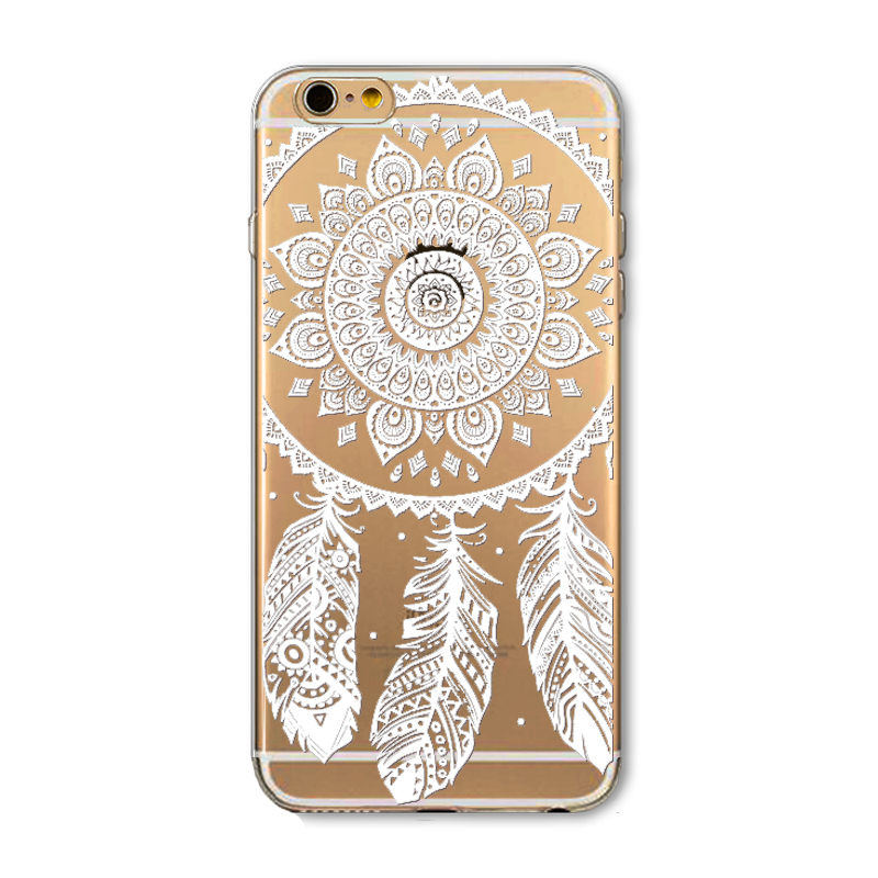 For Iphone 6 6s 5 5s Se Luxury Case Clear Soft Tpu Ethnic Tribal