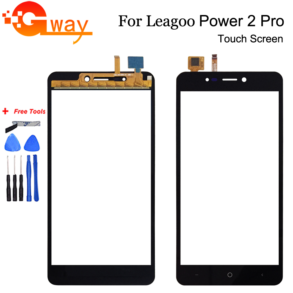 For Leagoo Power 2 Pro Touch Screen Digitizer Touch Panel Perfect Repair Parts Mobile Phone Accessory +Tools +Adhesive