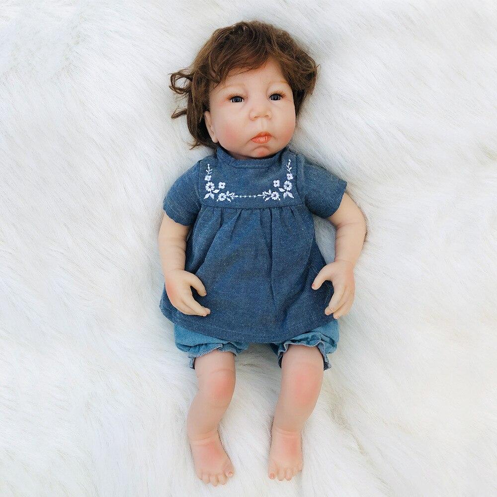 18 pouces réaliste Silicone Reborn bébé doux corps poupée garçon vivant né Mini poupées pour les filles jouet Hot-vente otarddoll jouets impressionnants
