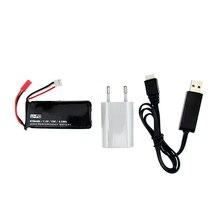 UE plug USB chargeur 7.4 V 610 mAh 15C 4.5Wh Lipo Batterie X4 H502S H502E RC Quadcopter Pièces De Rechange Pour Multicopter Gros