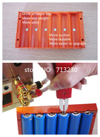 Free Shipping 6 Section Battery Pack Fixture 18650 Strong Magnetic Battery Clamp 18650 Battery Fixation Molds