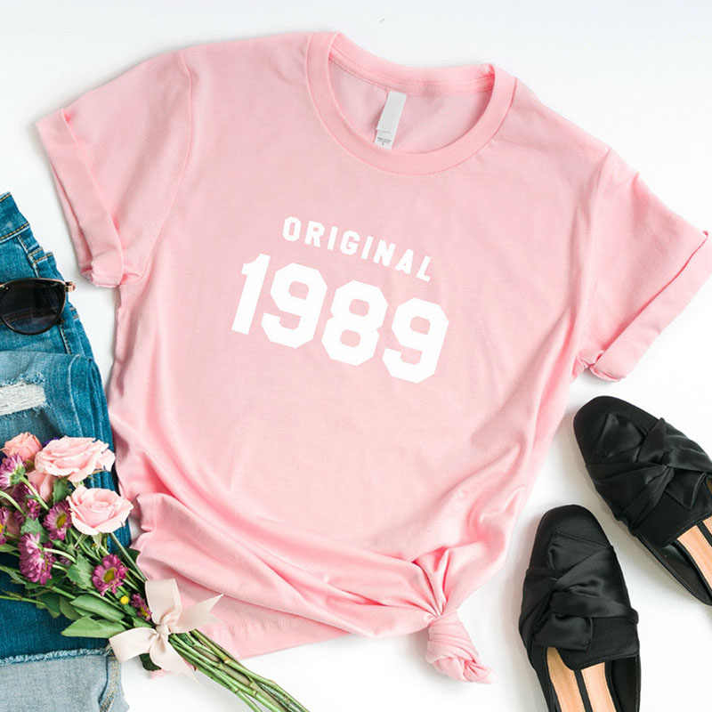 672d1a8e ... 30th Birthday Shirt Summer Fashion Tshirt Graphic Tee for Women 30th  Birthday Gifts for Her 1989 ...