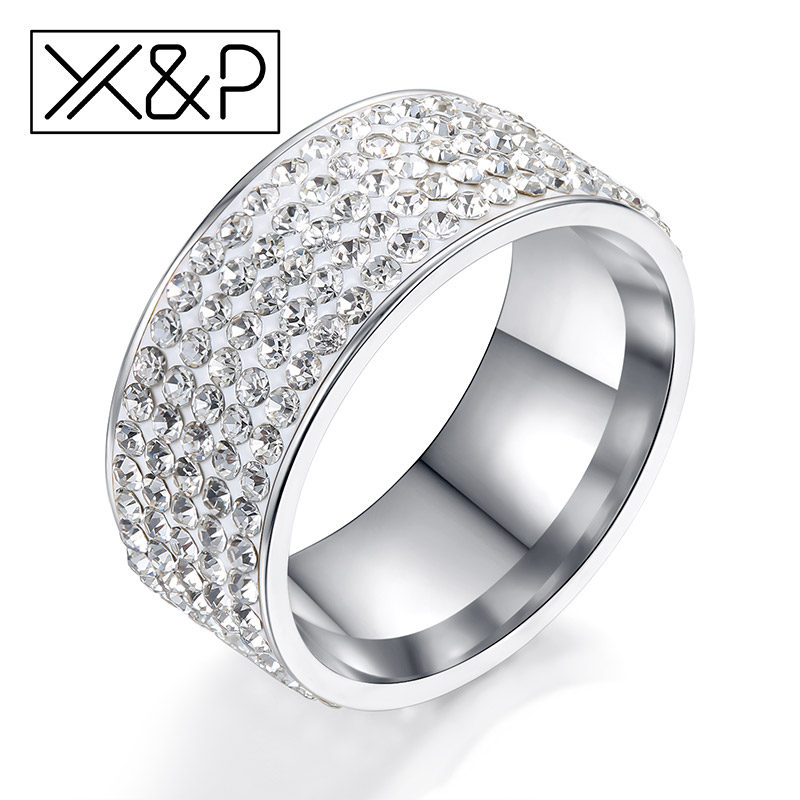 Good Deal XP Fashion Luxury Rhinestone Rings for Women Men 5 Row