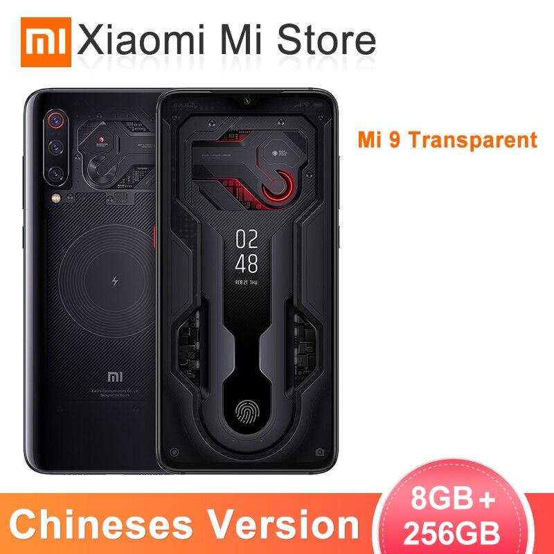"""Xiao mi mi 9 mi 9 Transparent 8GB 256GB Smartphone Snapdragon 855 6.39 """"48MP + 12MP + 16MP AI Triple caméras arrière 4.0"""