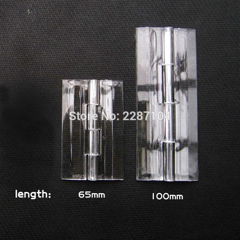 2x Clear Transparent Acrylic Plastic Hinge Box Piano Plexiglass hinge 100-150mm